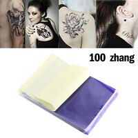 100Pcs Tattoo Carta Di Trasferimento Thermal Carbon Transfer Stencil Paper