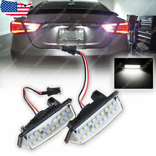 2x Xenon White 18 LED License Plate Light Lamps for Nissan Altima Infiniti QX60