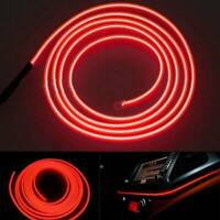 UK LED Red Car Interior Decor Atmosphere EL Wire Strip Light Lamp Car Accessory