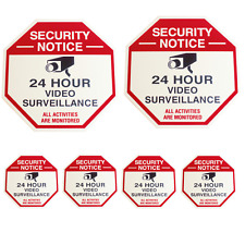 2 Security Camera Surveillance Yard Sign Cctv With 4 Security Sticker Decals
