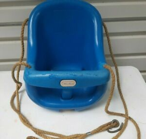 Vintage Little Tikes swing, Blue, W/Ropes and Hooks, Made in the USA