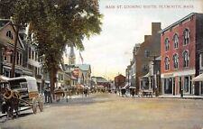 Plymouth Massachusetts~Main Street South~Telegraph~Coles~Clothing~1908 Postcard