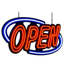 "Bright Open Neon Sign Led Light Tube Business Store Bar Shop Board Decor 32""x16"""