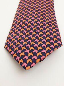 Hermes Silk Tie Horse Head 5327 TA 9.5cm 100% Silk Excellent Condition