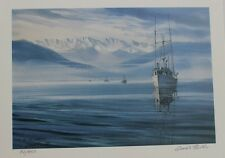 Grant Fuller Hand Signed Numbered Limited Edition Snow on the Olympics 1990