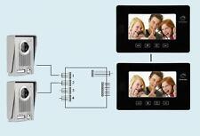 """Videocitofono 7"""" colori 2 monitor FOTO e 2 telecamere visione notturna (253)"""