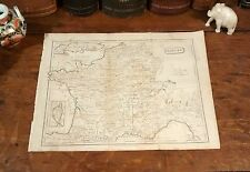 Antique Original 1805 Rare Jedidiah Morse Map FRANCE Paris Tours Lyon Dijon Nice
