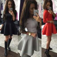 Women Mini Swing Dress Casual Cocktail Party Evening Prom Skater Short Dresses