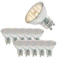 [Lux. pro] ® 10x LED Spotlight gu10 450lm 5w blanco cálido 3000k bombilla lampara SMD