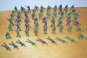 Vintage MPC Plastic Army Man Toy Soldier Lot of 66 1960s Retro Antique