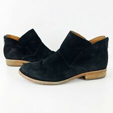 Kork Ease Ryder Black Suede Leather Ankle Booties Size 6.5