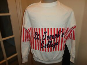 Vtg 80's Velva Sheen St. Joseph's Hawks NCAA Lightweight Crew Sweatshirt Adult M