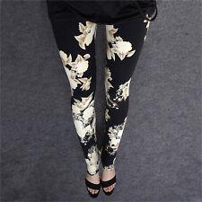 Ladies Womens Pants Trousers legging Harem Full Length Stretch Floral look JX