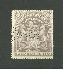 QV 1901 Rhodesia/British South Africa SG93 £10 lilac - MNG - Cat £3250+