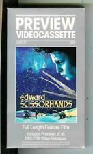 EDWARD SCISSORHANDS, fantasy horror movie on VHS video cassette tape in box