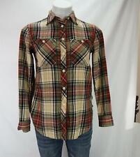 Denim & Supply Ralph Lauren Utility Button Down Shirt Plaid Multicolor Women XS