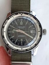 """Orologio Revlon """"Diver Word Time"""" meccanico mov. EB021N anni '60, OVERSIZE 40 CM"""