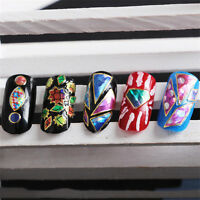1 Sheet Adhesive 3D Nail Art Sticker Irregular Decals Decoration G779-G782