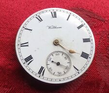 Waltham Traveller Pocket Watch Movement For Spares Or Repair Good Balance