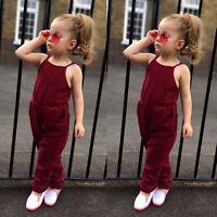 éte tout petit enfants bébé fille sangle tunique barboteuse Sarouels vêtements