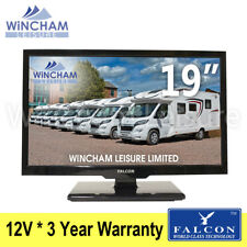 "Falcon 19"" 12V LED TV DVD * Satellite Freeview Motorhome Caravan Campervan Boat"