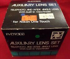 Photoco Auxiliary Lens Set Telephoto Wide Angle Viewfinder Camera-Nikon One Touc