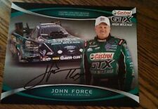 John Force autograph signed hero card Nhra