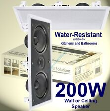 """Dual 6.5"""" 2-Way In-Wall Speaker With Twin Drivers And Dome Tweeter  03-B413"""
