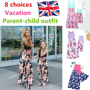 Dress Daughter Floral Mother Family Matching Clothes And Outfits Me Mommy Girl