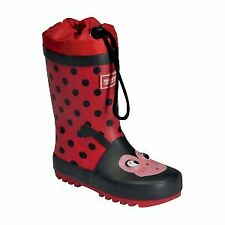 Regatta Kids Mudplay Junior Wellington Boots - Red Ladybird