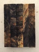 "Buckeye Burl Pen Blanks 3/4 x 3/4 x 6"" - 5 pieces-  Exotic Wood - 810"