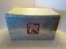 Vintage 7 UP Cronstroms Ice Chest Cooler Alcoa Aluminum Mid-century Retro 1950's