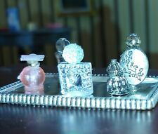 Dollhouse Vanity Tray With Perfume Bottles 1/12 To 1/6 SCALE