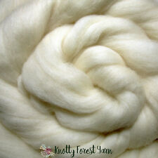 5 Feet Natural White Falkland Wool Roving Spinning Dyeing Felting Dolls 1.5oz
