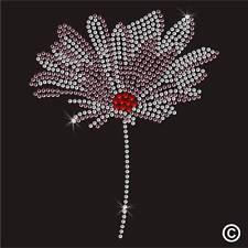 Fleur strass Diamante Transfert Fer Sur Hotfix Cristal T shirt motif patch