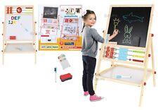 lavagna per bambini con pallottoliere magnetica IN LEGNO gessetti e pennarelli