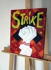 Tableau Art brut Strike Peinture sur toile décoration originale vintage original