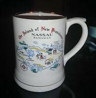 Vintage Nassau Bahamas Island of New Providence Collectible Coffee Mug cup ,