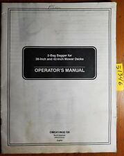 "John Deere Sabre Scotts 2 Bag Bagger for 38"" 42"" Mower Decks Operator Manual '99"