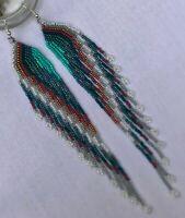 Native American Style Cascading Swan Wings Feathers Earrings