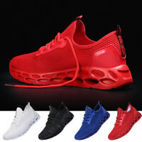Fashion Men's Running Sneakers Lace Up Lightweight Athletic Walking Tennis Shoes