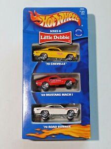 Hot Wheels Little Debbie Series III 3 Pack '70 Chevelle '69 Mustang '70 Road Run