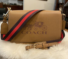 Authentic NWT Coach F72703 Jes Leather Messenger In Light Saddle $350