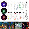 Solar Powered Wind Chime Colour Changing LED Light Hanging Garden Yard Ornament