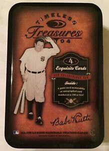 Timeless Treasures 2004 BABE RUTH Empty Baseball Card Tin SHIP FREE