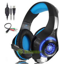 Original Pro 3.5mm Gaming Headset Headphones for PC Mac Laptop PS4 Xbox Mic LED