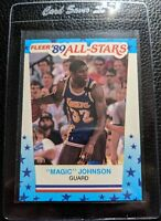 1989 FLEER STICKER #5 MAGIC JOHNSON LOS ANGELES LAKERS HOF MINT