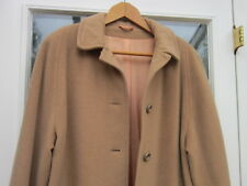 Calder Moor Women's Cashmere Wool Camel Coat  Fully Line Uk Size 14