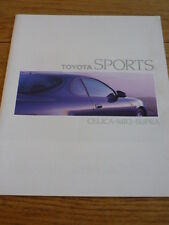 Unusual GERMAN TOYOTA CELICA MR2 & SUPRA CAR BROCHURE  jm