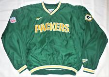 Reebok NFL Pro Line Authentic Green Bay Packers Pullover Windbreaker Jacket - L